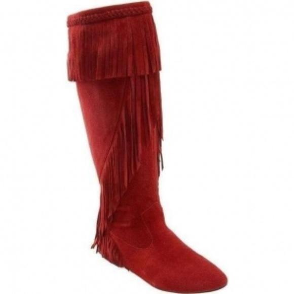 303ac4af3 Sam Edelman Utah Suede Tall Boots with Fringe. M 5a5a43728af1c513c734e736